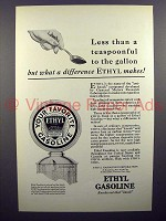 1928 Ethyl Gasoline Gas Ad - Less Than a Teaspoonful