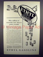 1930 Ethyl Gasoline Gas Ad - Millions of Motorists