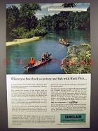 1957 Sinclair Oil Ad - Current River, Clark Forest