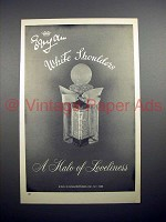 1968 Evyan White Shoulders Perfume Ad - Halo Loveliness