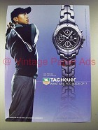 2003 Tag Heuer Link Automatic Watch Ad - Tiger Woods