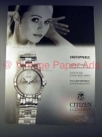 2005 Citizen Eco-Drive Elektra Watch Ad - Sasha Cohen