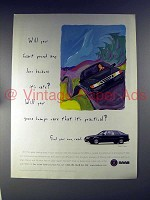 1996 Saab 9000CS Turbo Car Ad - Because it's Safe