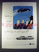 1995 Saab 900 Car Ad - Social Approval