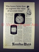 1925 Hamilton Masterpiece, Strap Watch Ad!