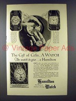 1926 Hamilton Tonneau, Strap, Irving Watch Ad!