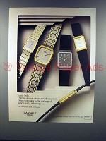 1984 Lassale Seiko Watches Ad - Thinness!