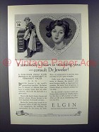 1926 Elgin Watch Ad - If Heart is Troubling You