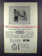 1927 Elgin Watch Ad - In Style When Uncle Tom's Cabin