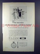 1927 Elgin Watch Ad - Both Young Together