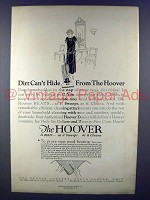 1925 Hoover Vacuum Cleaner Ad - Dirt Can't Hide