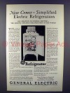 1927 General Electric Refrigerator Ad - Simplified