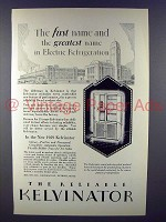 1929 Kelvinator Refrigerator Ad - First and Greatest