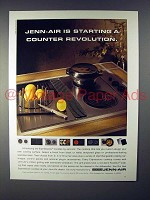 1992 Jenn-Air Expressions Cooktop Ad - Revolution