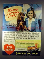1941 Red Heart Dog Food Ad - Rusty, Cocker Spaniel