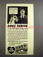 1942 Red Heart Dog Food Ad - Great Dane!