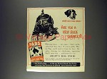1943 Pard Dog Food Ad - Are You a New Shoe Chewer