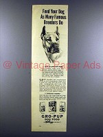 1946 Kellogg's Gro-Pup Dog Food Ad - Great Dane - Famous Breeders