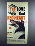 1951 Red Heart Dog Food Ad - Collie!