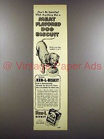 1951 Ken-L Biskit Dog Food Ad - Dachshund