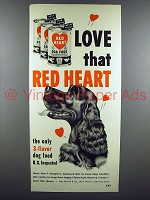 1952 Red Heart Dog Food Ad - Cocker Spaniel