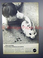 1970 Mattel Smartipig Toy Bank Ad - You Can Count On