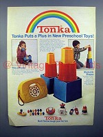 1980 Tonka Tote-a-Phone & Stackable Shapes Toy Ad!