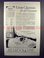 1927 Heisey's Glassware Ad - Dainty for All Occasions