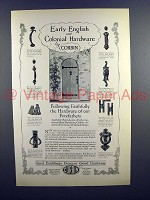 1926 Corbin Hardware Ad - Early English, Colonial