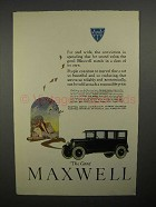 1922 Maxwell Car Ad - Far and Wide Conviction!