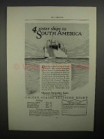 1923 U.S. Shipping Board Ad - to South America