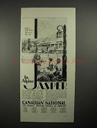 1930 Canadian National Railway System Ad - Jasper