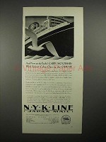 1930 N.Y.K. Line Cruise Ship Ad - On to the Pacific