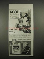 1935 Kool Cigarettes Ad - King on the Smoke Throne