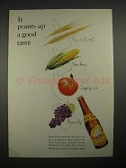 1935 White Rock Water Ad - Points Up a Good Taste