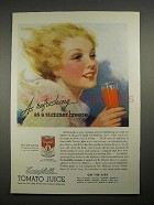1935 Campbell's Tomato Juice Ad - Summer Breeze