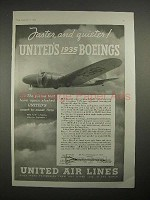 1935 United Air Lines Ad - Boeing 247D Plane