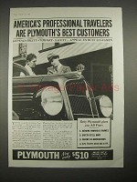 1935 Plymouth Car Ad - Professional Travelers
