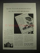 1935 Packard Car Ad - America Prefers Packards
