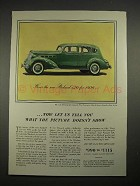 1936 Packard 120 Sedan Car Ad - Picture Doesn't Show