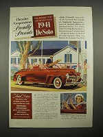 1941 DeSoto Car Ad - Chrysler Proudly Presents!
