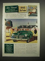 1941 DeSoto Car Ad - Five Greats!