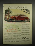 1941 Packard One-Ten Deluxe Touring Sedan Car Ad - One Mile Free