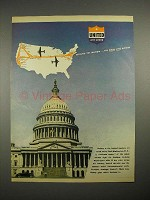 1944 United Air Lines Ad - Washington, D.C.