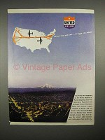 1944 United Air Lines Ad - Pacific Northwest