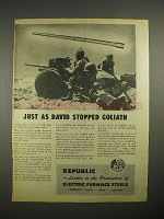 1944 WWII Republic Steel 37mm Anti-Tank Gun Ad