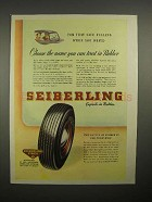 1945 Seiberling Tire Ad - You Can Trust in Rubber