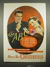 1946 Chesterfield Cigarettes Ad - Our ABC