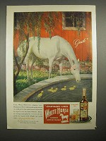 1946 White Horse Scotch Whisky Ad - Gentle