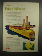 1946 Southern Pacific City of San Francisco Train Ad